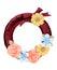 Stock Image :  Corona decorata con il fiore di carta