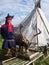 Stock Image : Costume одетьл человека Лапландии