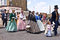 Stock Image : Costumed members of the Dickens Festival parade