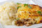 Stock Image : Cottage pie and cabbage