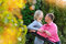 Stock Image : Couple in the autumn park