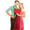 Stock Image : Couple in dirndl and leather pants
