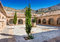 Stock Image : Courtyard at the Monastery Virgin Del Saliente