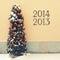 Stock Image : Cozy snowed Christmas tree