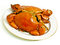 Stock Image : Crab on white plate