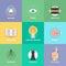 Stock Image : Creative design elements flat icons