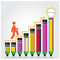 Stock Image : Creative light bulb Idea concept background