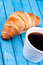 Stock Image : Croissant and coffee