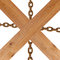 Stock Image : Crossed wooden planks and rusty chain