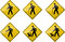Stock Image : Crossing Signs