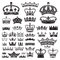 Stock Image : CROWNS Antique and decorative