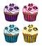 Stock Image : Cupcakes die met bloemen wordt verfraaid