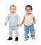 Stock Image : Cute babies standing