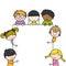 Stock Image : Cute cartoon kids frame