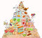 Stock Image : Cute Food Pyramid