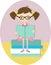 Stock Image : Cute girl reading