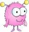 Stock Image : Cute Halloween Monster Alien