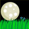Stock Image : Cute illustration of a moon and tall grass