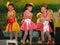 Stock Image : Cute kid dance show