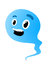 Stock Image : Cute little blue cartoon sperm