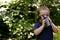 Stock Image : Boy drinking water