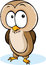 Stock Image : Cute owl cartoon - vector illustration isolated