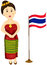 Stock Image : Cute Thai girl in traditional dress