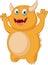 Cute Yellow monster cartoon