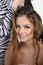 Stock Image : Cutting beautiful young woman in hair salon