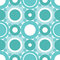 Stock Image : Cyan circles seamless pattern