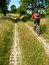 Stock Image : Cycling along agricultural track