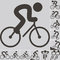 Stock Image : Cycling icons