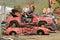 Stock Image :  czerwone samochody