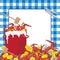 Stock Image :  czyraka kraba zaproszenia przyjęcie