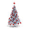 3d Christmas tree with colorful ornaments