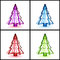 Stock Image : 3D Christmas tree concept