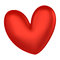 Stock Image : 3D Red heart color