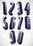 Stock Image : 3d tall condensed numbers set.