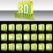 Stock Image : 3D zieleni Błyszczący guziki dla strony internetowej lub Apps. Wektor