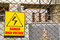 Stock Image : Danger high voltage warning sign