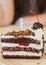 Stock Image : Dark chocolate cake