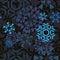 Stock Image : Dark Snowflakes Pattern