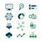 Stock Image : Data analytic icons set