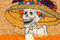 Stock Image : Day of the dead mexican catrina