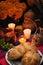 Stock Image : Day of the dead offering altar (Dia de Muertos)