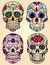 Stock Image : Day of the dead vector illustration set