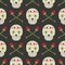 Stock Image : Day fo the dead pattern