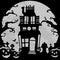 Stock Image :  De achtergrond van het spookhuis