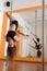 Stock Image : De danser van Pool het praktizeren