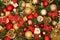 Stock Image :  De decoratie van Kerstmis op blauw